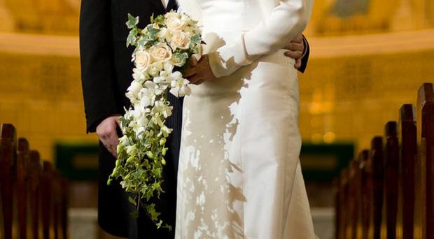Richard Kennedy and Heather McCrory on their wedding day