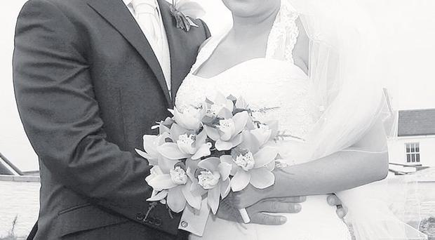 Ryan and Laura on their wedding day in September 2009