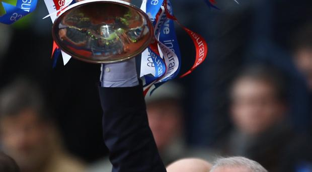 GLASGOW, SCOTLAND - MARCH 20: Walter Smith, coach of Rangers lifts the Co-operative Insurance Cup after Rangers beat Celtic in the final at Hampden Park on March 20, 2011 in Glasgow, Scotland. (Photo by Jeff J Mitchell/Getty Images)