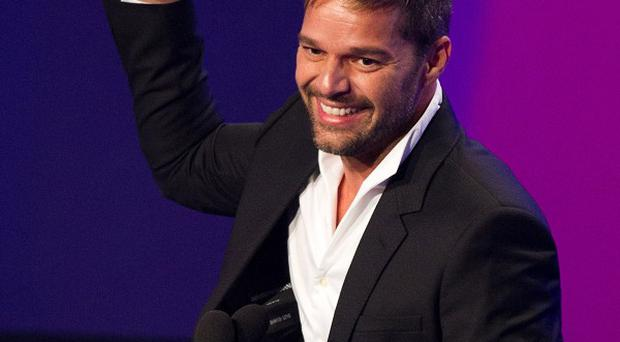Ricky Martin was honoured at the Glaad awards in New York