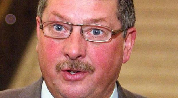 Sammy Wilson said household and business rates will rise by 2.5 per cent next year