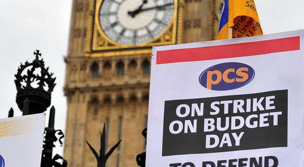 Members of the Public and Commercial Services union will be joined by War on Want members for a march and rally opposite Parliament