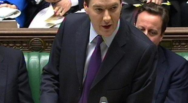 The Northern Ireland Assembly could take the power to set corporation tax, George Osborne said