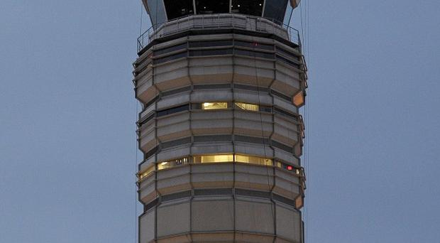 The control tower at Reagan National Airport, where the air traffic controller fell asleep as planes approached (AP)