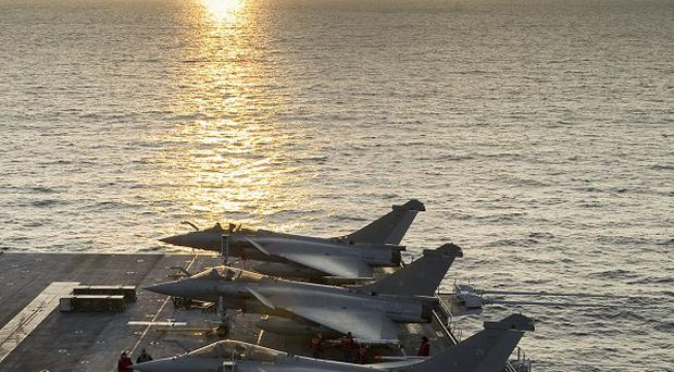 French fighter jets have shot down a Libyan plane (AP)