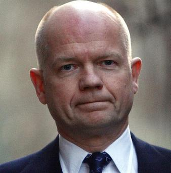 William Hague said Britain will continue to take robust action against Colonel Muammar Gaddafi's regime in Libya
