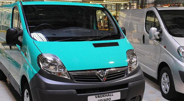 Vivaro vans at the Vauxhall plant in Luton where the next generation is to be built