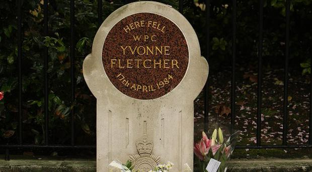 The memorial to PC Yvonne Fletcher in St James's Square, London