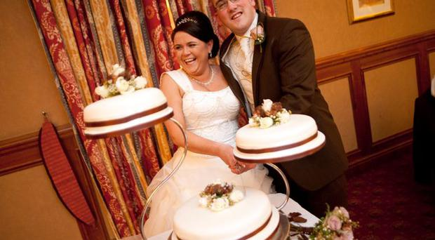 Noel Smith and Aislin Mackin who were married on the 19th March 2011 at St Malachy's church in Kilcoo, Co Down. The reception was at the Canal Court in Newry. Pic by Alasdair McBroom