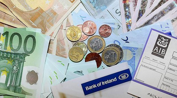 The Irish economy contracted by one per cent last year