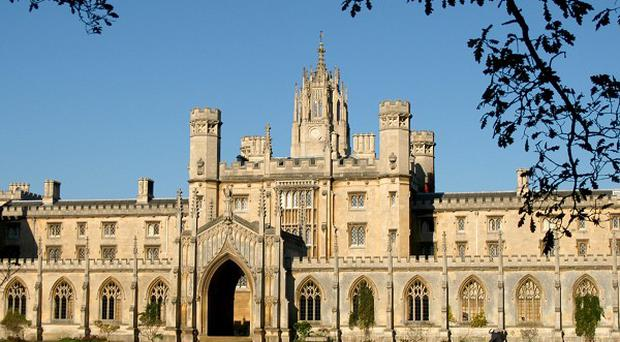 Trinity Hall at Cambridge. The university's governing body has voted in favour of a 9,000-pound tuition fee