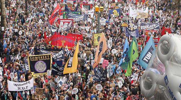 Union leaders have vowed to continue campaigning against the Government's spending cuts