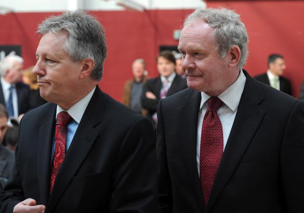 First Minister Peter Robinson (left) and Deputy First Minister Martin McGuinness. The Stormont Executive and Assembly remains Northern Ireland's only lifeline to peace and stability