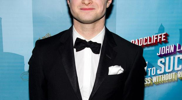 Daniel Radcliffe at the after-party for How To Succeed In Business Without Really Trying