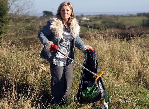 Lynda Bryans does her bit as part of The Big Spring Clean