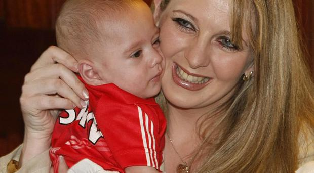 Angie Benhaffaf wither her son Hassan
