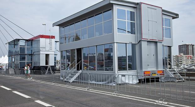 Tthe Giant Expo 2 hospitality structure which will be located at the North West 200's start/finish area