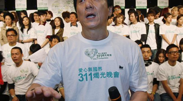 Jackie Chan has been in Hong Kong discussing a charity benefit for the people of Japan