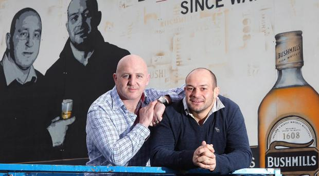 Munster and Ireland rugby legend Keith Wood and current Ulster and Ireland star Rory Best team up for the launch