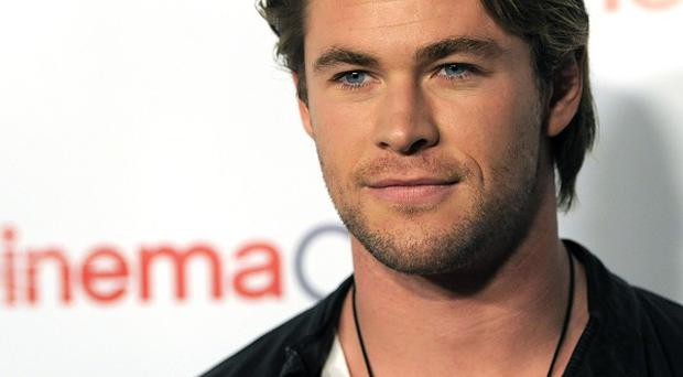 Chris Hemsworth is receiving an award for being the male star 'of tomorrow'