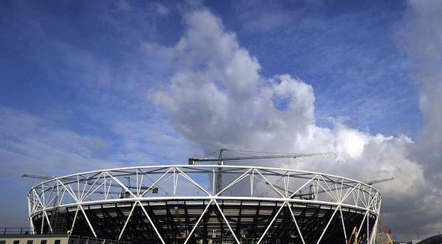 A female security guard has been arrested near London's Olympic Stadium site on suspicion of possessing explosives
