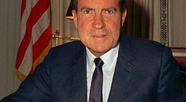 Richard Nixon's presidential library has opened a new Watergate exhibition