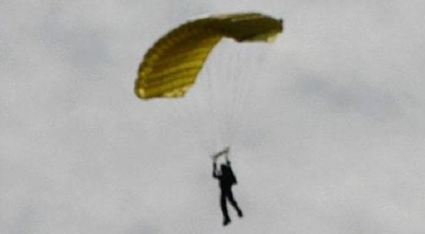 Two skydivers have died after colliding in the skies above California (stock image)