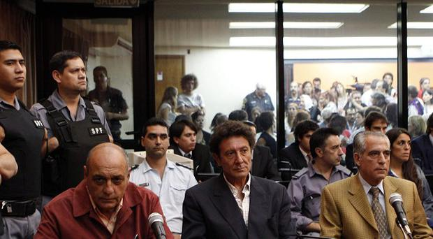 Former army general Eduardo Cabanillas in court before sentencing for torture in Buenos Aires, Argentina (AP)