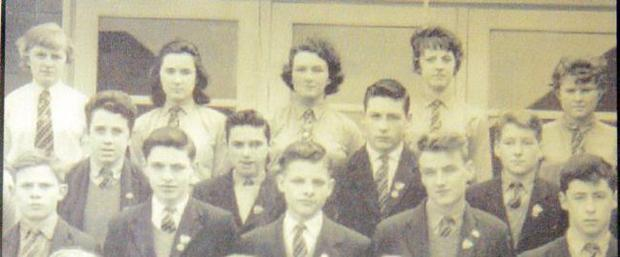 <b>George Best </b>pictured with other prefects at Lisnasharragh High School, Belfast, 1961. George is pictured second left, centre row.