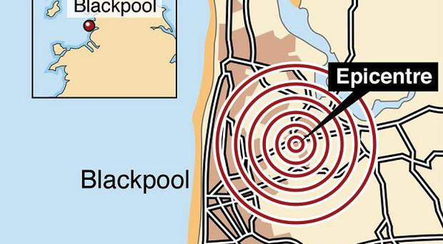 An earthquake has shaken homes in north-west England, Lancashire Police said