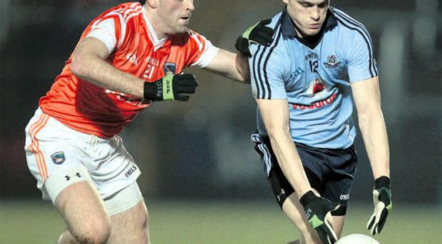 Central role: Armagh's Malachy Mackin has been switched from the half-forward line to midfield for the game with Galway