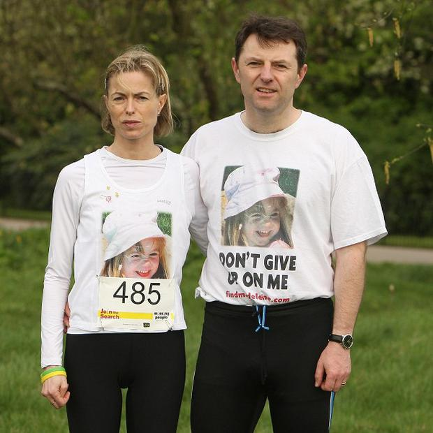 Madeleine McCann's parents completed a 10 kilometre run in aid of a missing people's charity