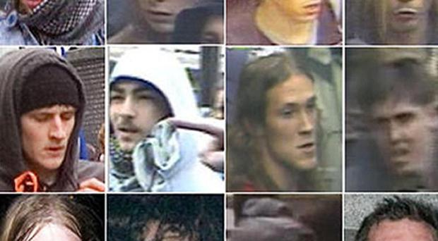 The Metropolitan Police wants to identify 18 people in connection with events during the trade union march in central London
