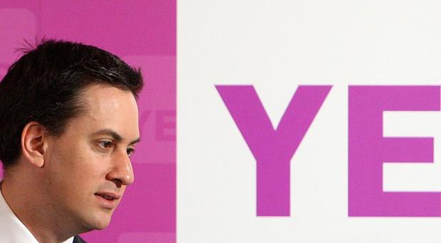 Labour Party Leader Ed Miliband at a Yes to Fairer Votes event