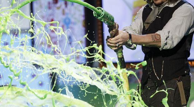 Johnny Depp at Nickelodeon's 24th Annual Kids' Choice Awards in Los Angeles (AP)