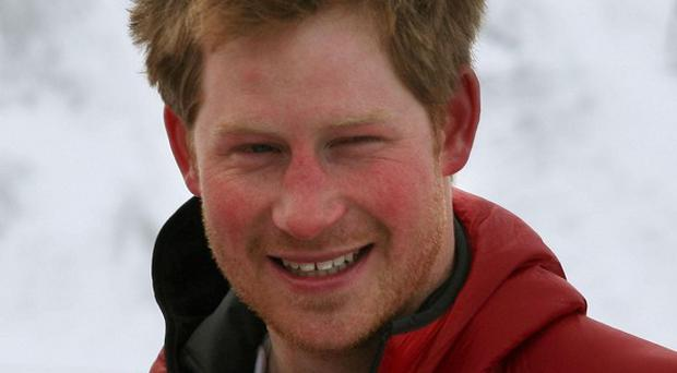 Prince Harry said he 'couldn't wait to get on the ice with the boys'