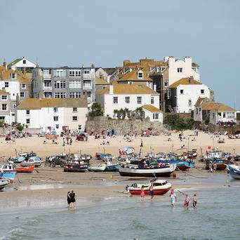 St Ives in Cornwall was voted the top UK beach resort in a survey