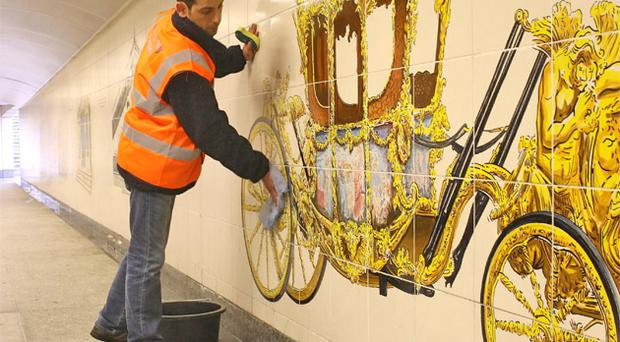 One offender cleans up the Hyde Park subway
