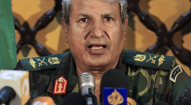 Libyan rebel military leader Abdel-Fattah Younis said Nato was not doing enough to protect opponents of Muammar Gaddafi (AP)
