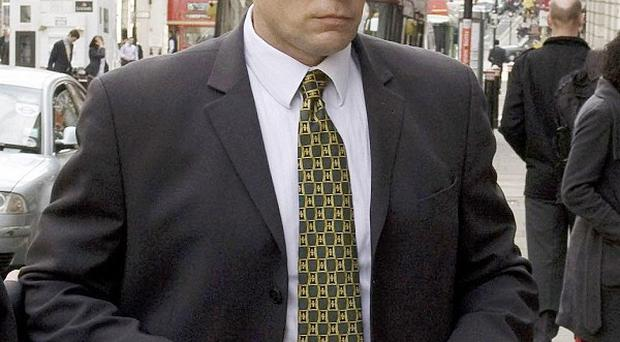 Pc Simon Harwood is giving evidence at the inquest into the death of Ian Tomlinson