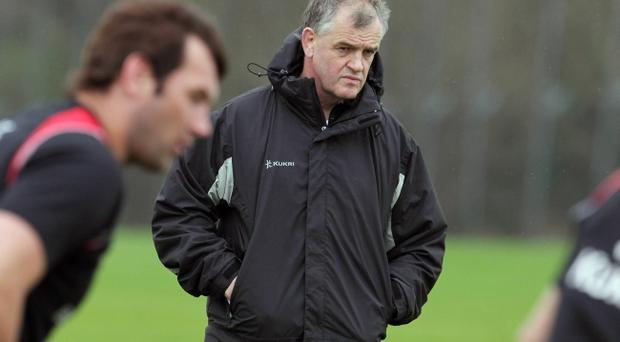 Coach Brian McLaughlin oversees training as Ulster put the finishing touches to their preparations for Sunday's Heineken Cup quarter-final