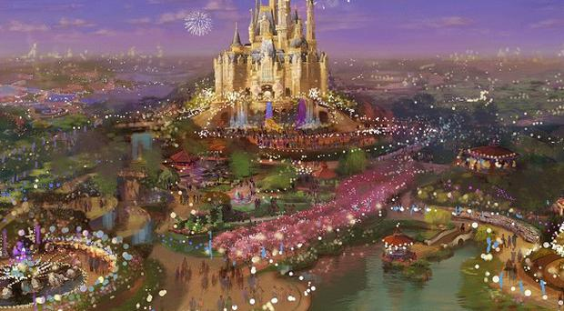 An artist's rendering of the proposed Shanghai Disney Resort, as executives started work on the project (AP)