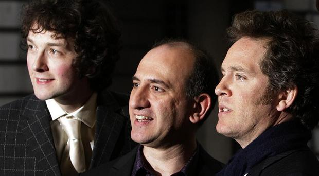 Chris Addison (far left) reckons the change in Government will affect the next series of The Thick Of It