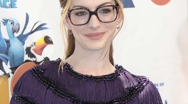 Anne Hathaway had specs appeal at the Rio screening
