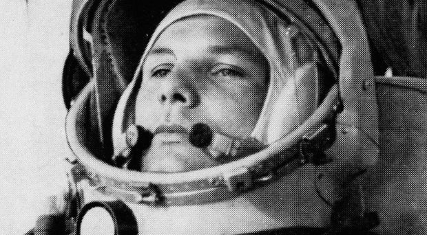Russian cosmonaut Yuri Gagarin made the first human space flight on Tuesday April 12 1961 (AP)