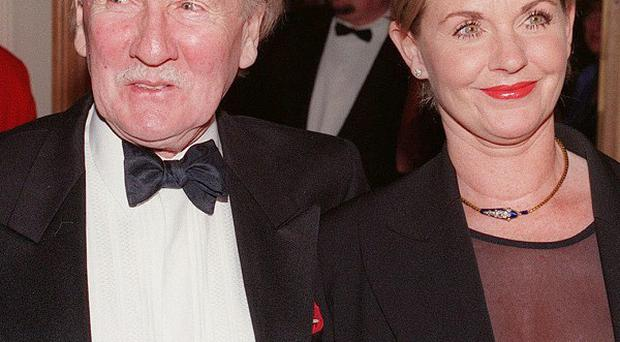 Leslie Phillips' wife Angela Scoular has died