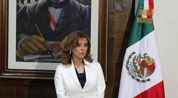 Attorney general Marisela Morales attends a press conference in Mexico City (AP)