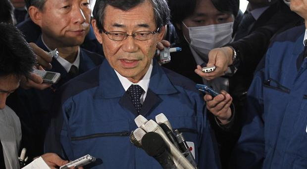 Tepco president Masataka Shimizu said compensation payments are being 'readied as soon as possible'