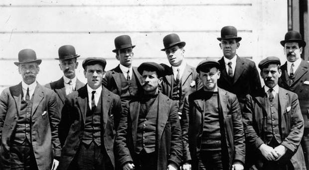Some of the survivors of the Titanic disaster. 1912.