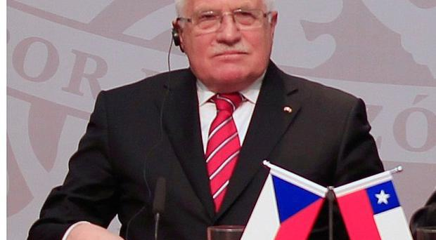 Czech president Vaclav Klaus said it was customary for leaders to keep pens after signing accords